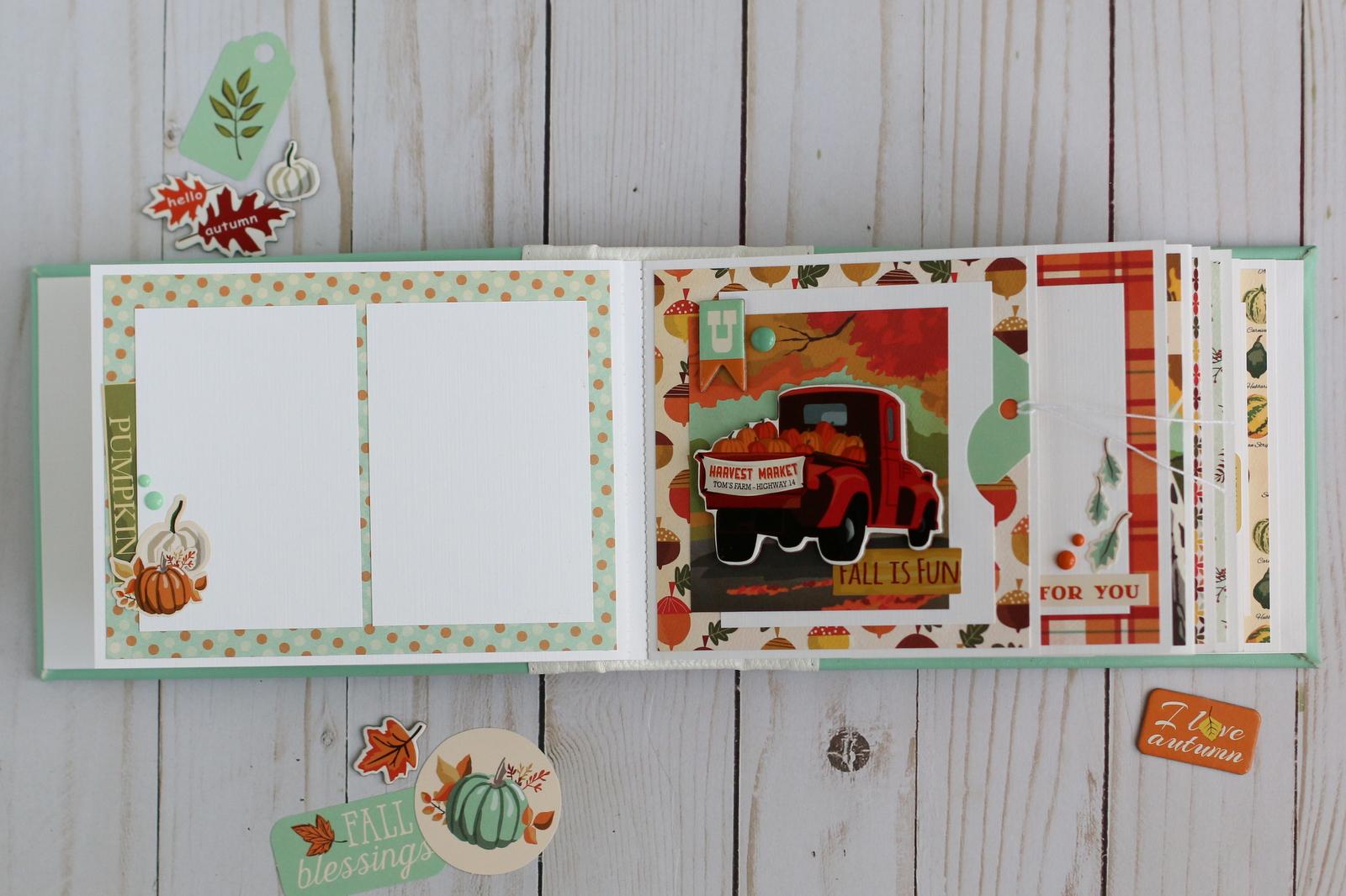 My creative corner Осенний мини альбом Fall scrapbook
