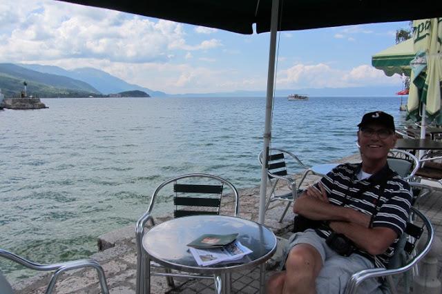 Macedonië, Ohrid, zicht op het meer