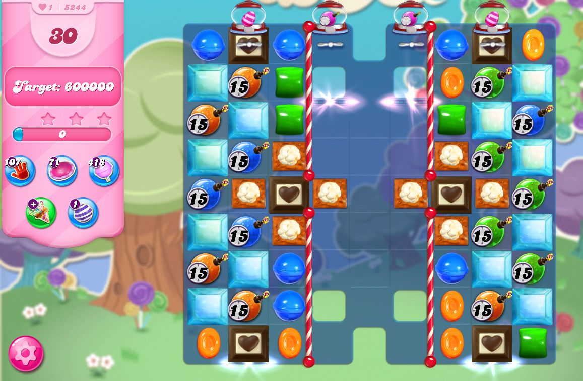 Candy Crush Saga level 5244