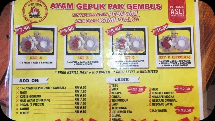 My All Ayam Gepuk Pak Gembus