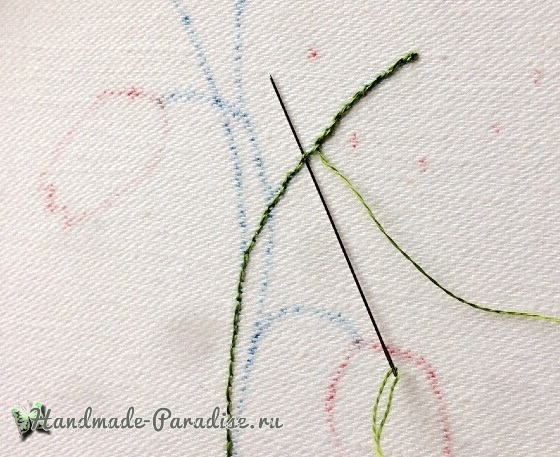 Мастер-класс. Объемная вышивка тюльпаны (5)