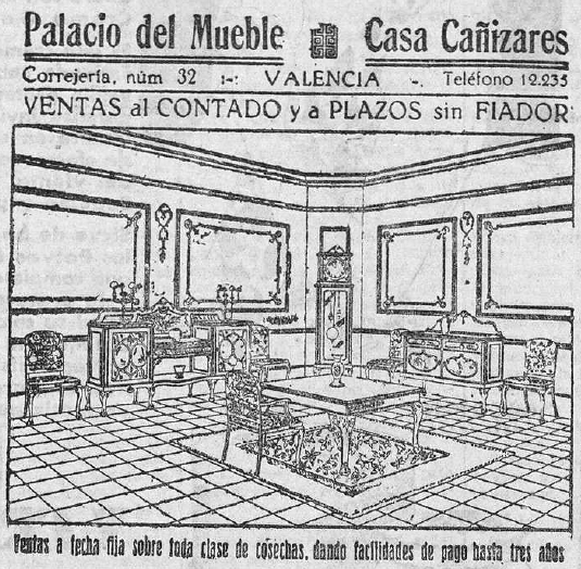 Valencia en blanco y negro publicitarios palacio del mueble - Muebles casal valencia ...