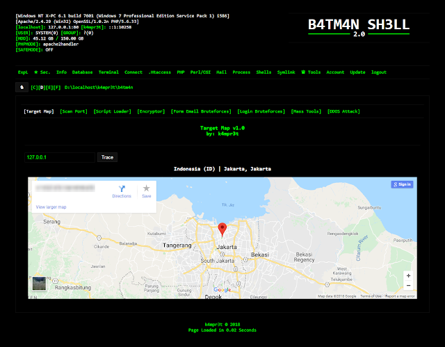 B4Tm4N - PHP WEBSHELL - Hacking Land - Hack, Crack and Pentest