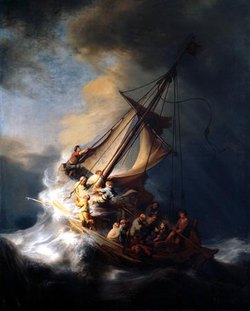 Tormenta en el mar de Galilea – Rembrandt