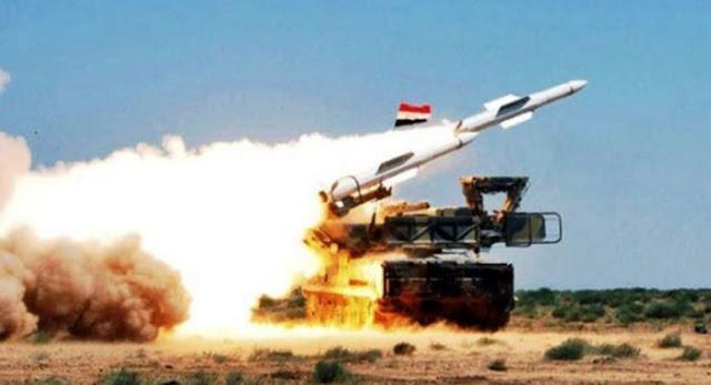 الدفاعات الجوية السورية تسقط صواريخ اسرائيلية بمحيط دمشق