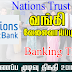 Vacancy In Nations Trust Bank   Post Of - Banking Trainees
