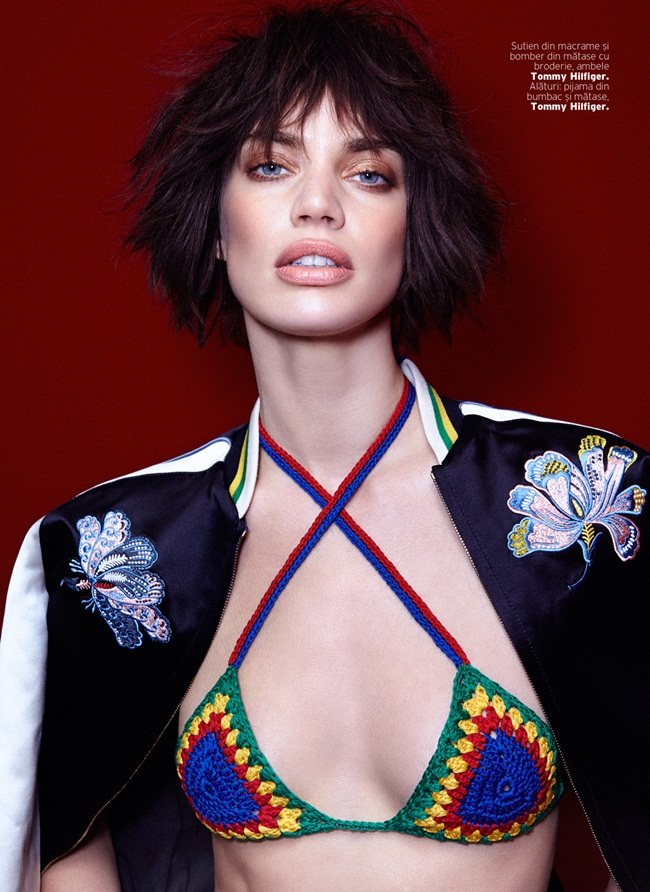 2016 SS Tommy Hilfiger Multi-Coloured Crochet Bikini Editorials