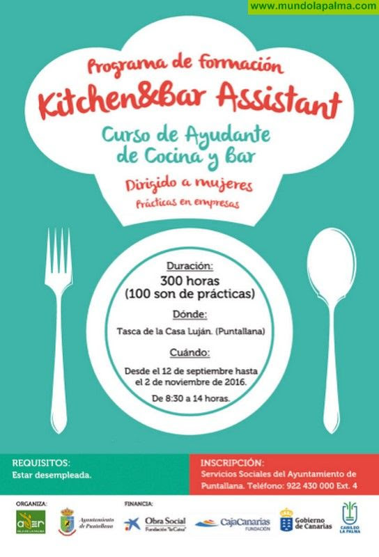 Curso de ayudante de cocina en puntallana noticias de la for Cursos de ayudante de cocina