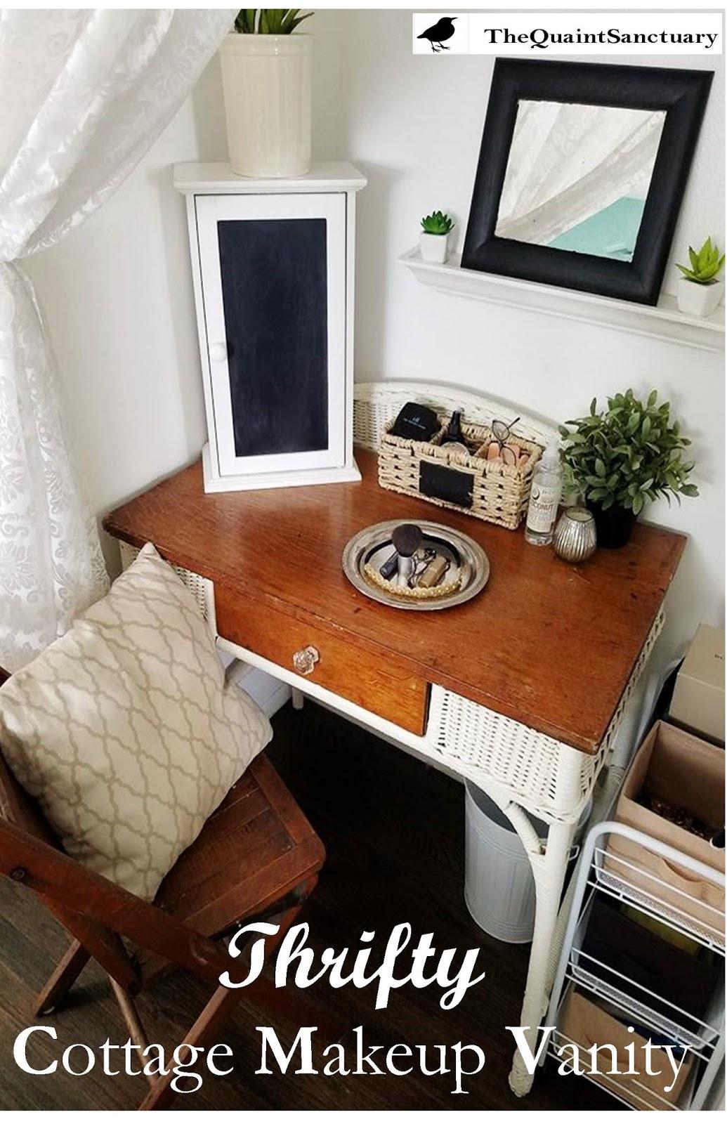 Phenomenal The Quaint Sanctuary Small Closet Into A Thrifty Makeup Home Interior And Landscaping Ologienasavecom