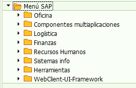 Menu SAP - Consultoria-SAP.com