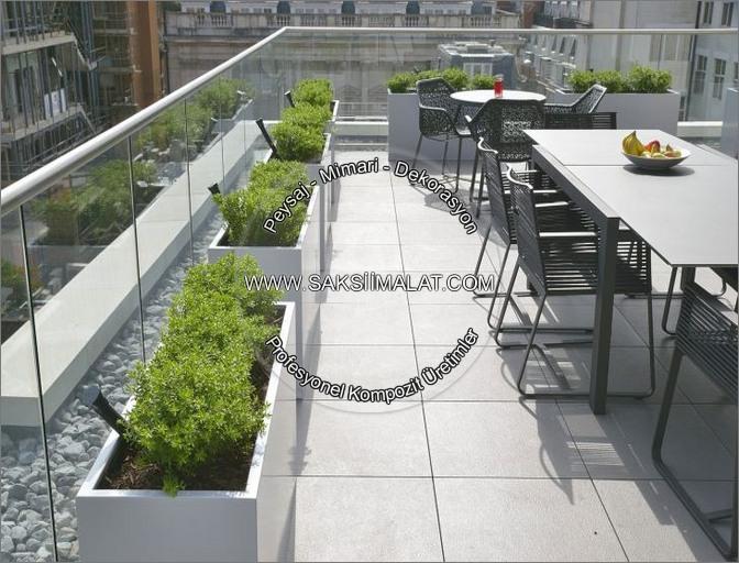 Balkon için saksı fikirleri - Balkon saksıları - Teras peyzaj dekorasyonu