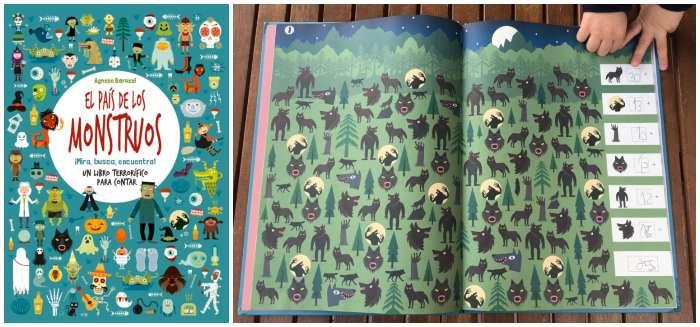 libro infantil niños halloween El país de los monstruos VVKids buscar, contar