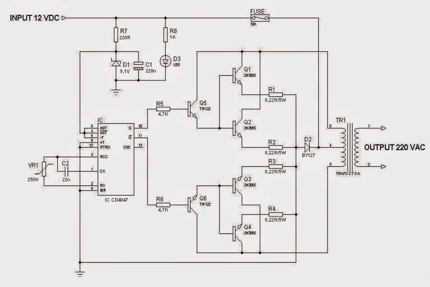 BLOG TEKNIK & VOKASI: Merakit Rangkaian Inverter 1000 Watt