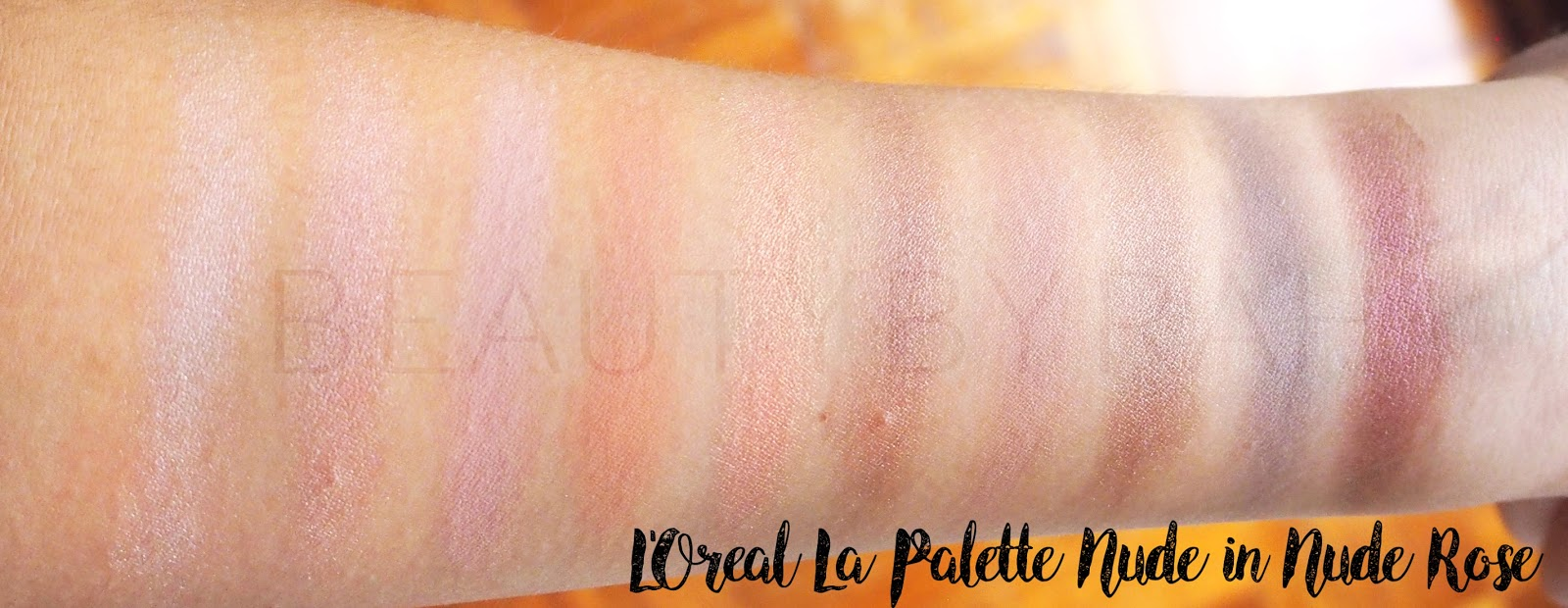 l'oreal la palette nude swatches in nude rose