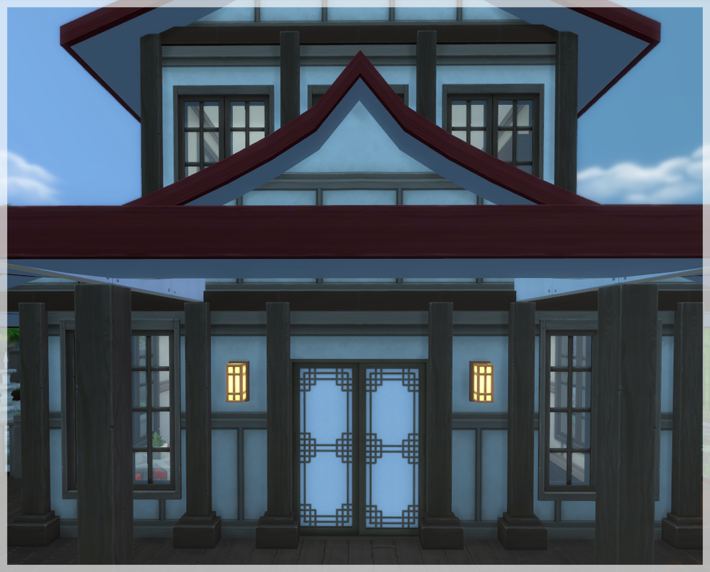 My Sims 4 Blog: Updated Asian Paper Doors Set by MathCope