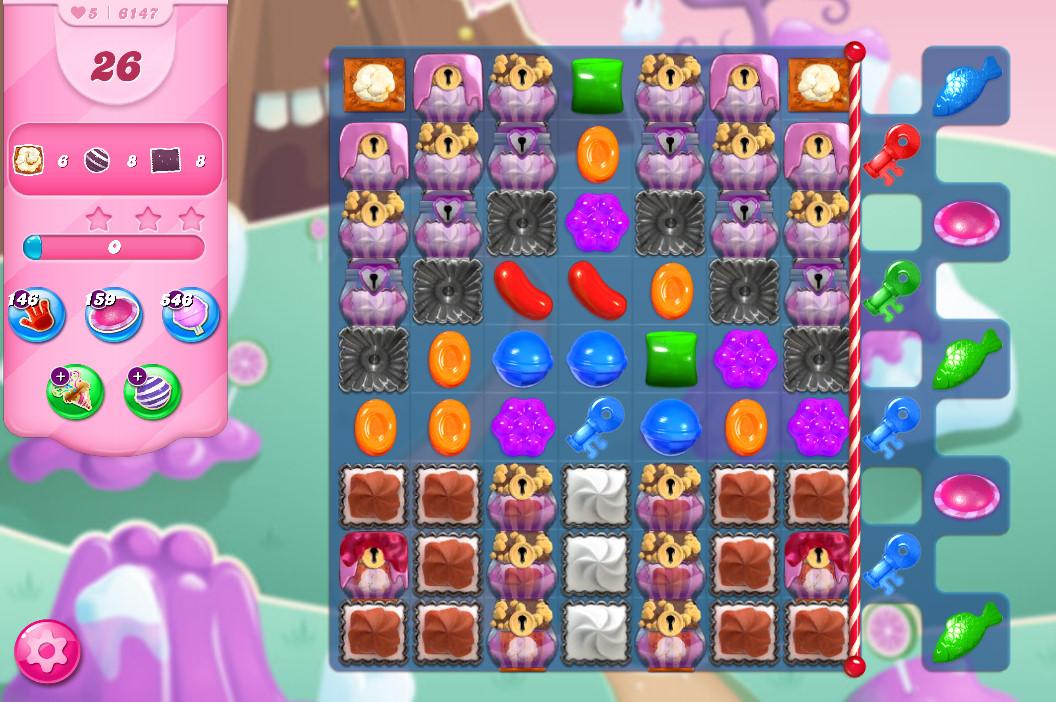 Candy Crush Saga level 6147