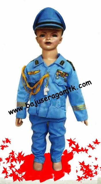Jual kostum anak TNI angkatan udara AU