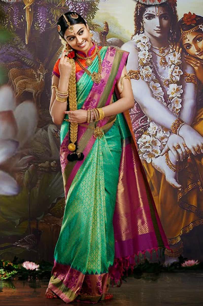 South Indian Wedding Sarees  Sarees Villa