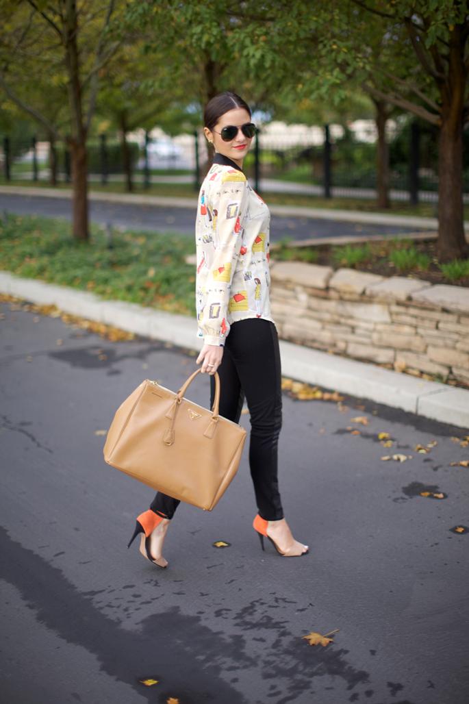 ecacb2c9bd8d9b Top: Kate Spade | Bottoms: Paige Black Label | Shoes: Zara | Sunnies: Ray  Ban | Bag: Prada | Earrings: J.Crew | Bracelets: Poshlocket, Kate Spade,  J.Crew, ...