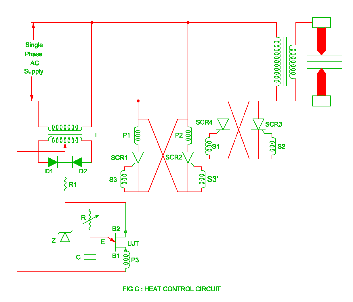 heat control circuit in the resistance welding