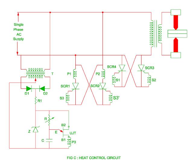 heat control circuit in the resistance welding