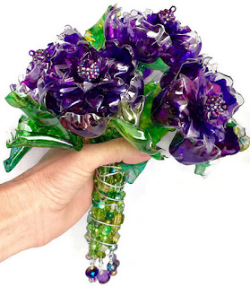 recycled plastic wedding bouquet