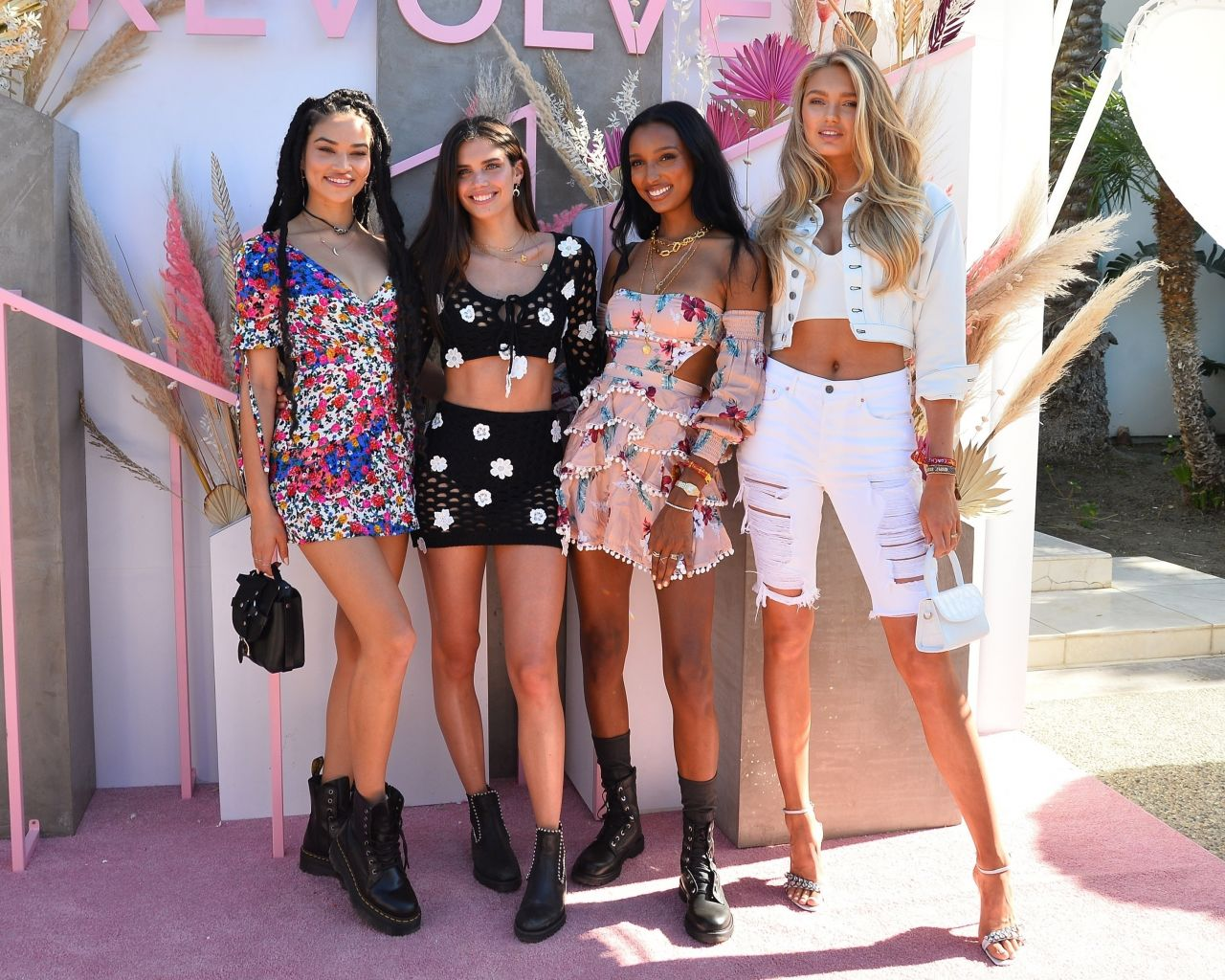 a42af78625e0 Victoria's Secret models go chic at the Revolve Coachella party