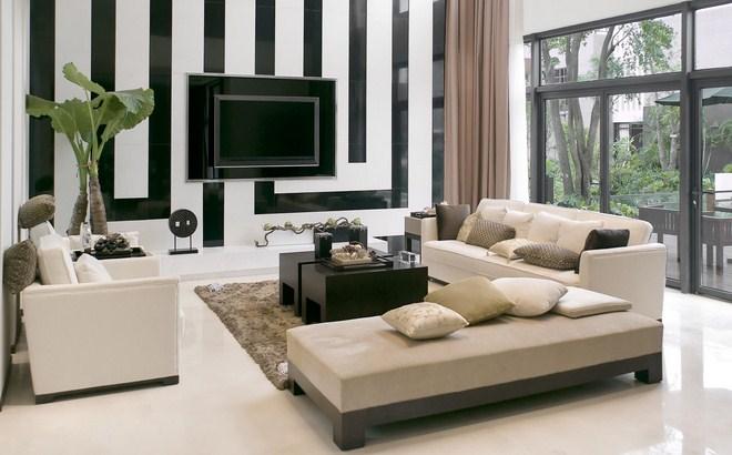 Desain Ruang Tamu Minimaliam Putih