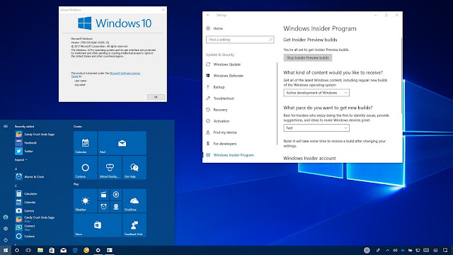 Windows 10 Pro RS3 v1709 32-Bit 16299.19 Terbaru 28 Oktober 2017