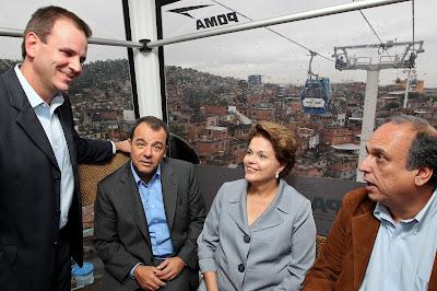 Eduardo paes, Cabral, Dilma e Pezão