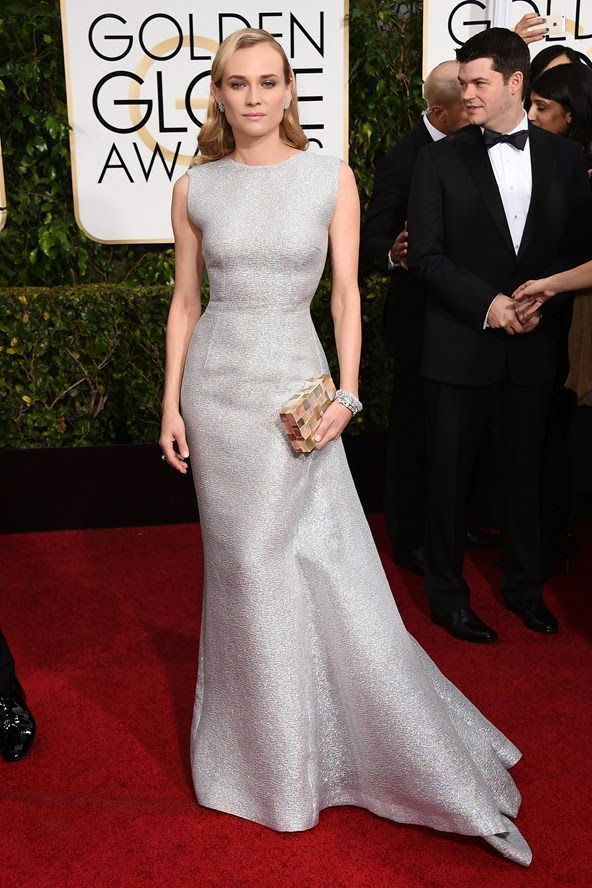 Diane Kruger in an Emilia Wickstead dress at the Golden Globe Awards 2015