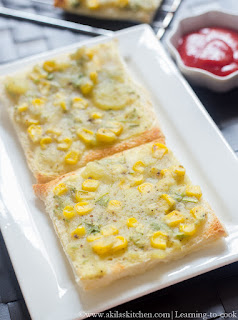 Potato Corn Toast