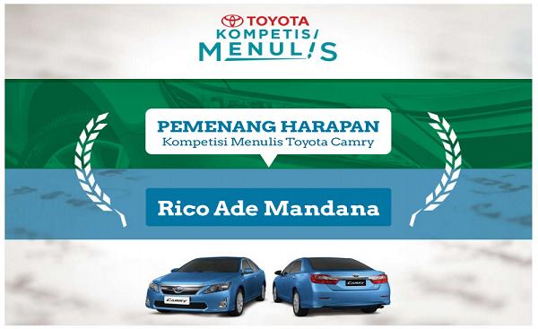 Pemenang Kontes SEO Toyota Camry