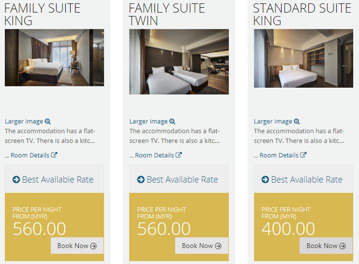Harga Bilik di Tropics 8 Family Suites, Penang Malaysia