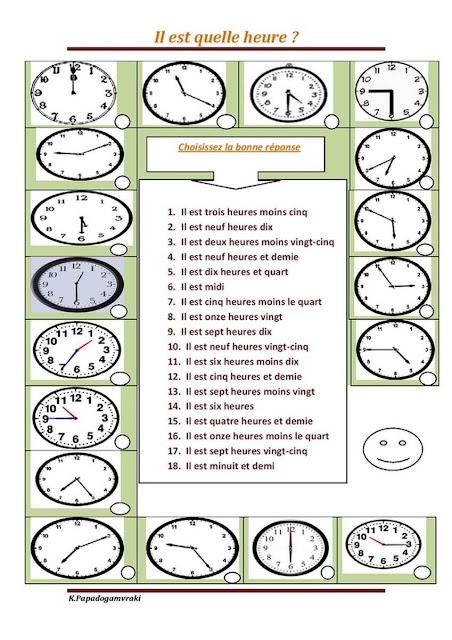 Godziny - ćwiczenie 4 - Francuski przy kawie