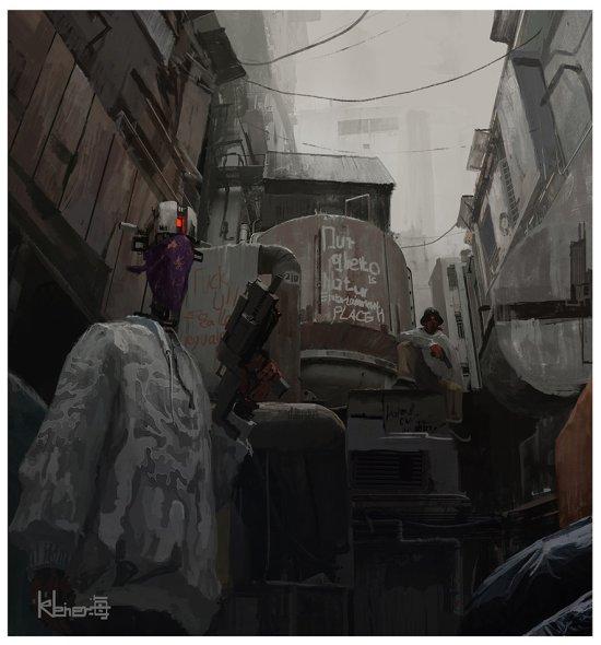 kleinerHai artstation arte ilustrações fantasia ficção científica