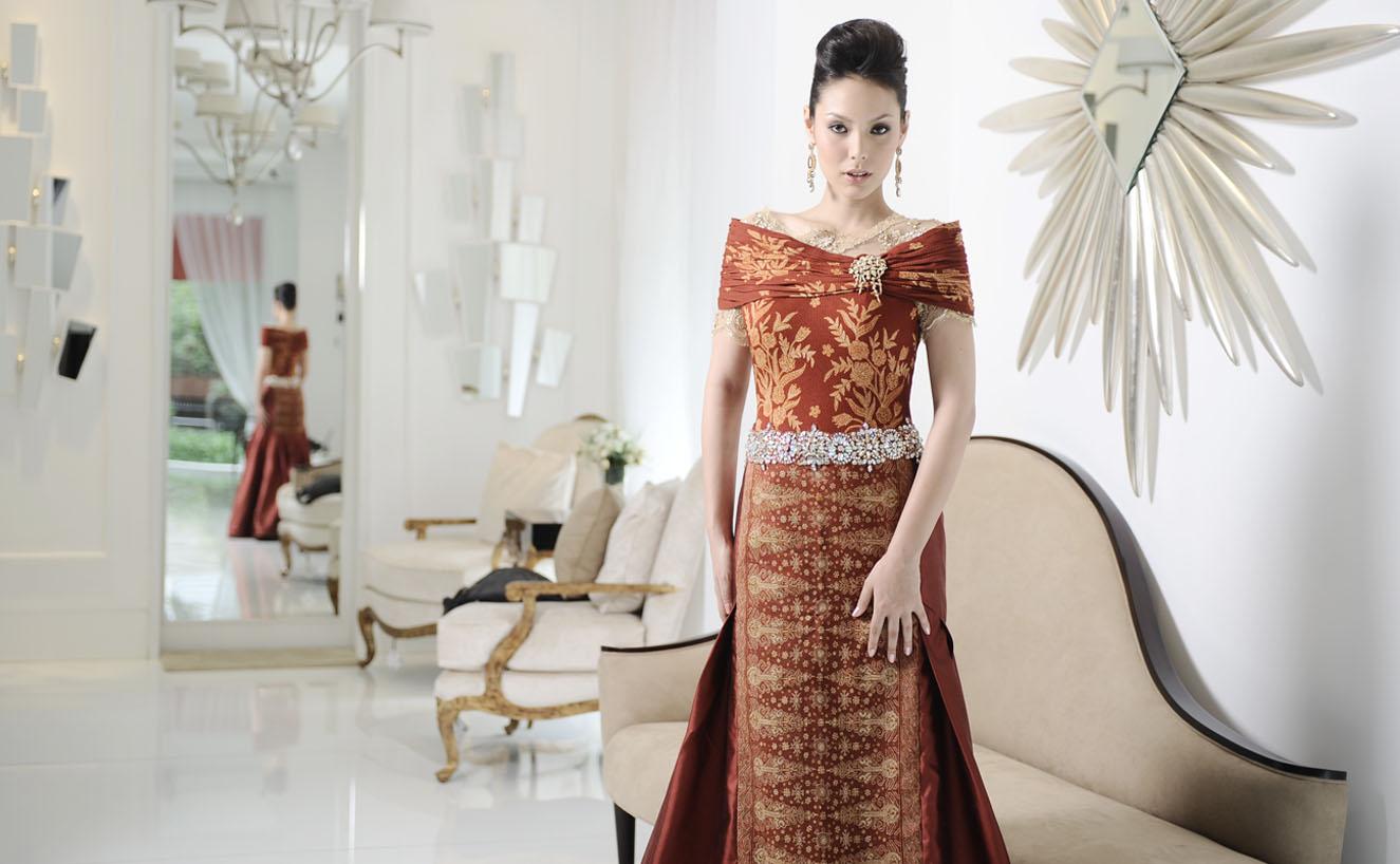 45 Model Baju Brokat Kombinasi Batik Modern 2019 - Model ...