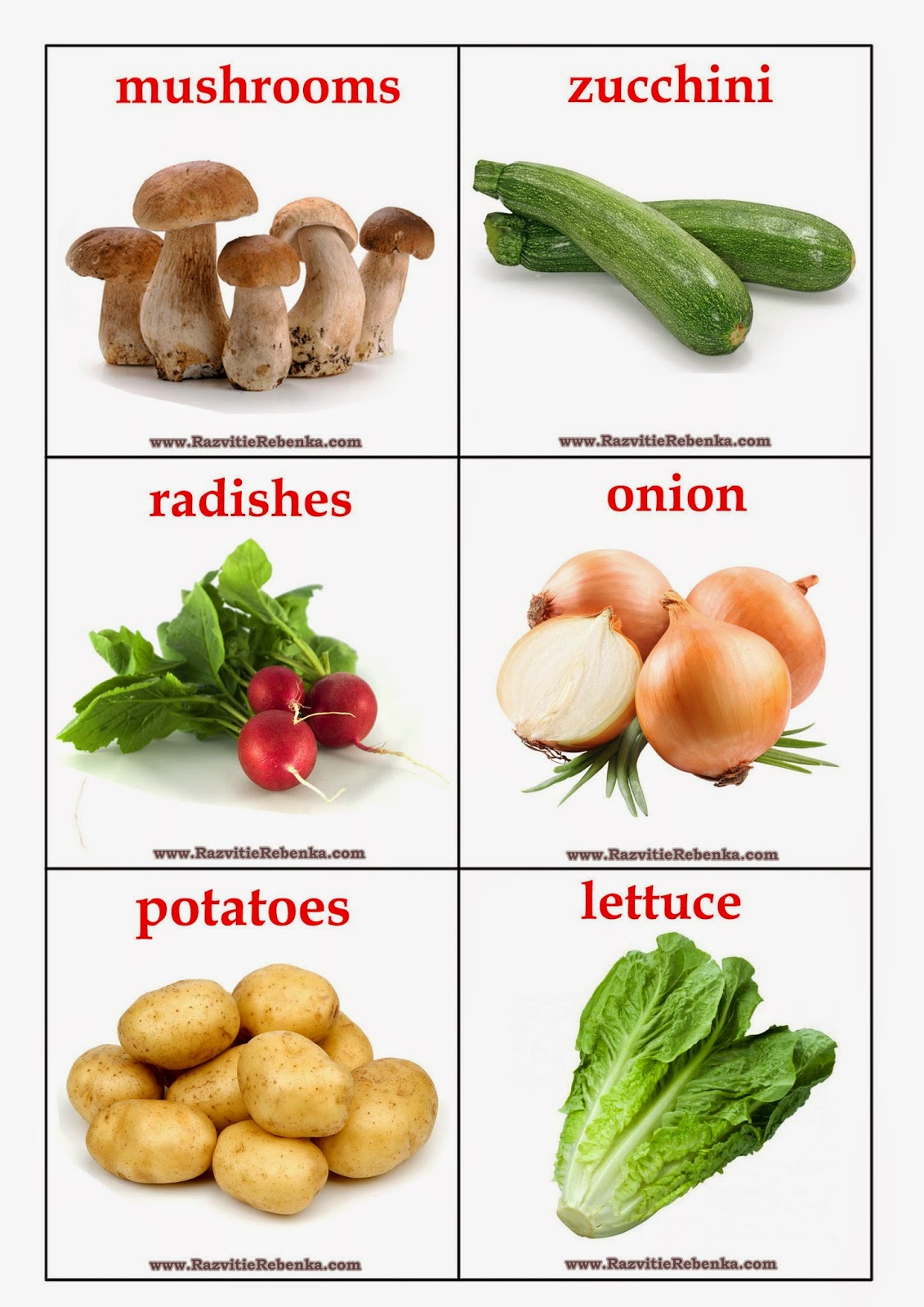 Vegetables pronunciation