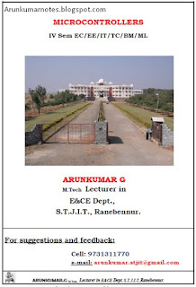 Arun Kumar Notes for VTU