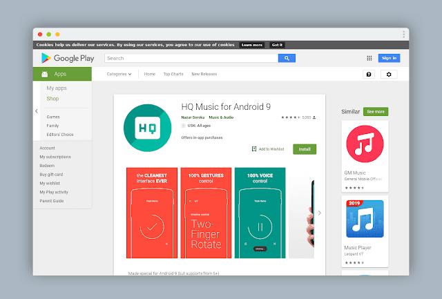 تطبيق أندرود P لتشغل الموسيقى مع خصائص و مميزات خرافية لن تجربها من قبل متوفر الآن للجميع!Androde P application