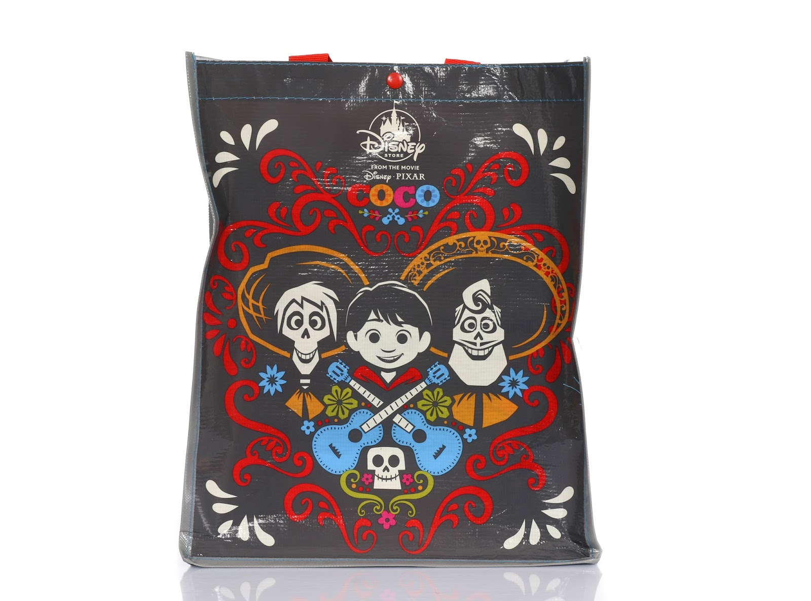 disney store pixar coco reusable gift tote bag