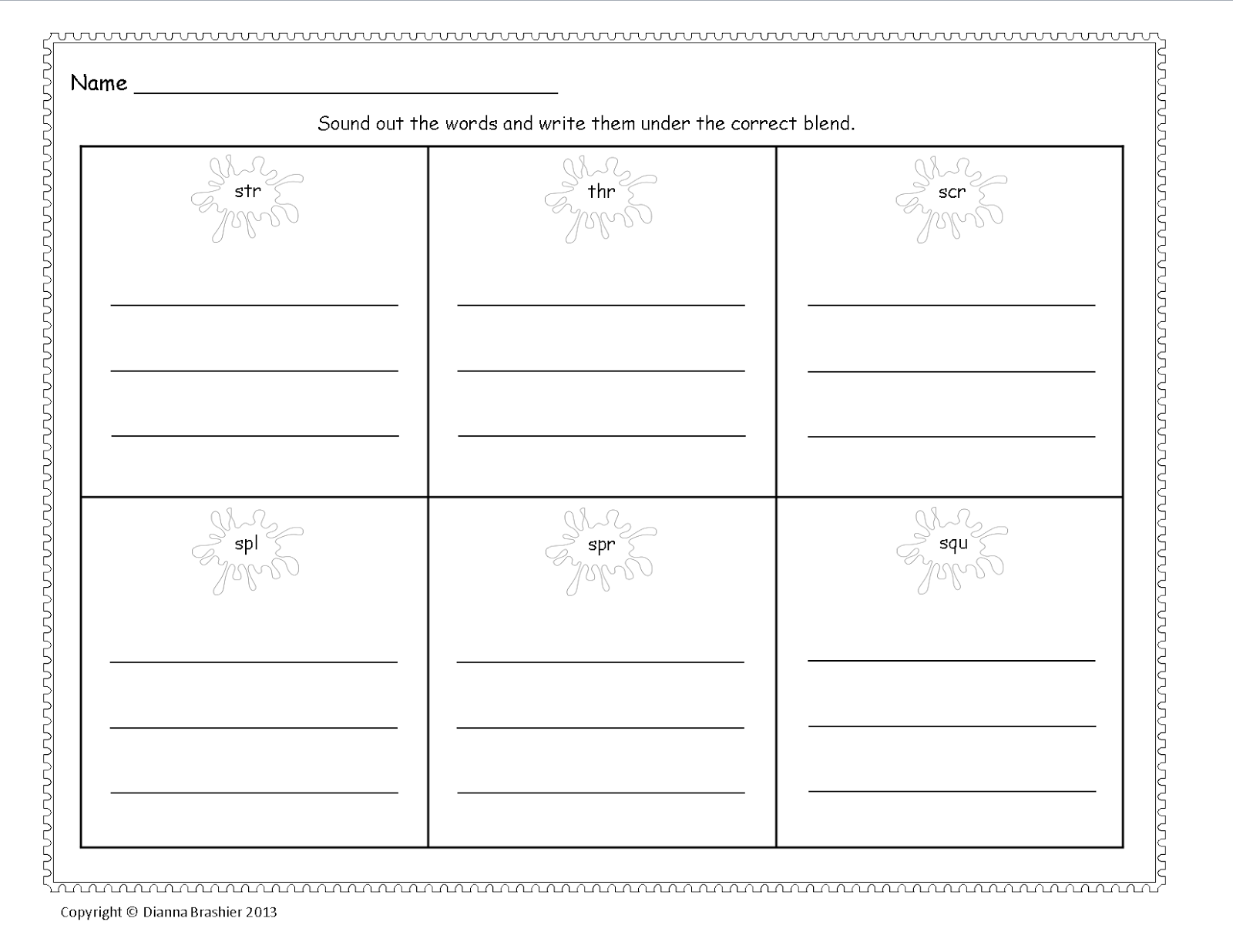 Spr Worksheet Gallery