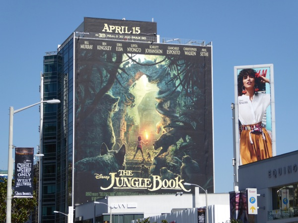 Giant Disney Jungle Book movie billboard