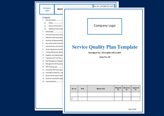 quality plan template