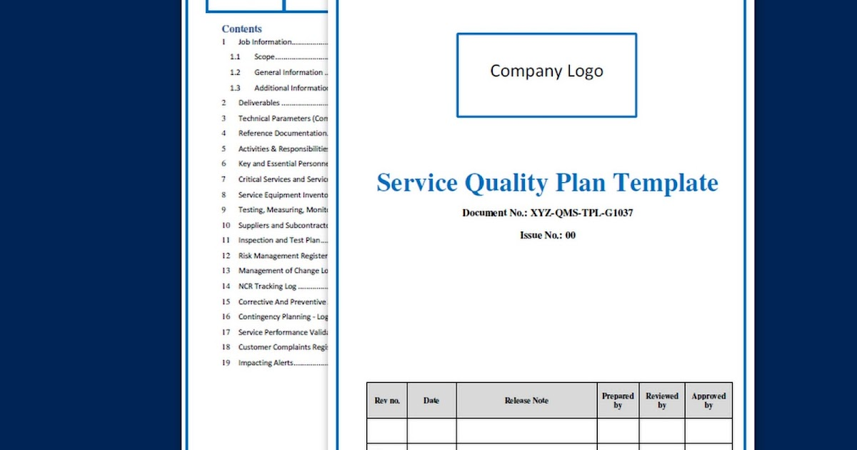 Qa Qc Plan Template - Apigram.Com