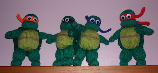 Teenage Mutant Ninja Turtles Knitting Pattern to Knit Action Heros