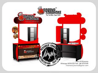 produksi gerobak portable takoyaki