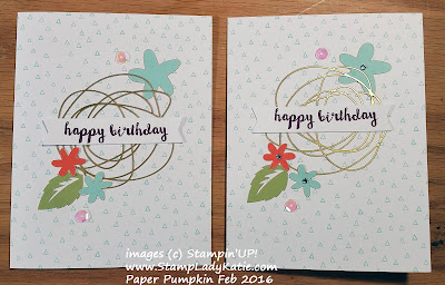 "Stampin'UP!'s Paper Pumpkin Craft kit for February 2016 ""Hello Sunshine"""