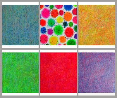Farbflächenmalerei, Sechser-Serie auf Leinwand, Abstrakte Malerei