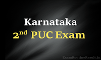 pue.kar.nic.in karnataka 2nd puc time table 2018